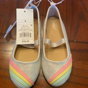 Toddler size 9 rainbow shoes